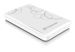 "Transcend StoreJet 25A3 2TB ext. HDD 2.5"" USB 3.0, Anti-Shock, 256-bit AES, bílý"