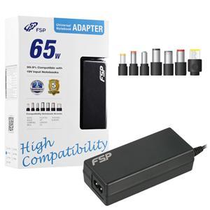 Napájecí adaptér k notebooku, Fortron FSP NB 65 CEC, 65W, 19V, 7 koncovek