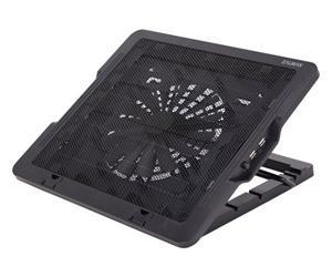 """Chladící podložka pro notebook do 16"""" ZM-NS1000,1x 18cm fan,2x USB port,výškově stavitelný,černý"""