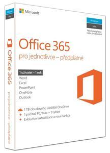 Microsoft Office 365 Pro jednotlivce 32-bit/x64 Eng - předplatné na 1 rok