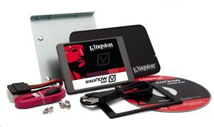 "Kingston SATA3 2.5"" SSD disk 480GB SSDNow V300-Series,SATA/600,čtení 450MB/s,zápis 450MB/s,výška7mm,Upgrade Kit+adapter"