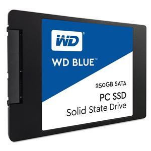 WD BLUE SSD WDS250G1B0A 250GB SATA3, čtení 540MB/s, zápis 500MB/s, výška7mm