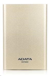 """ADATA HC500 1TB Externí HDD 2.5"""", USB 3.0, zlatý"""