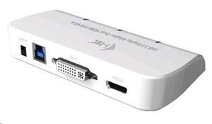 I-TEC USB 3.0 Dual Display adaptér Full HD+ 2048x1152/ HDMI/ DVI/ D-SUB