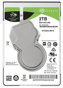 "SEAGATE ST2000LM0158 BarraCuda 2TB SATA600/5400 128MB, 2.5"", 7mm"