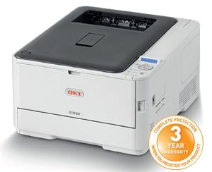 OKI C332dn A4, LED, ProQ2400, 30/26 ppm, PCL/PS, 1GB, 3GB eMMC, USB, LAN, Duplex