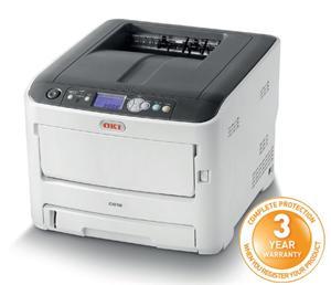 OKI C612n A4, LED, ProQ2400, 36/34 ppm, PCL/PS, 256MB, USB, LAN