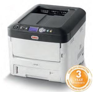OKI C712n A4, LED, ProQ2400, 36/34 ppm, PCL/PS, 256MB, USB, LAN
