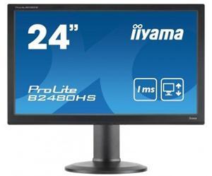 """24"""" Iiyama LCD LED ProLite B2480HS-B2 1920x1080 FHD,1ms,VGA,DVI,HDMI,repro,pivot,černá"""