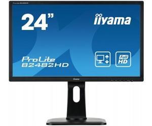 """24"""" Iiyama LCD LED ProLite B2482HD-B1 1920x1080 FHD,5ms,VGA,DVI,repro,pivot,černá"""