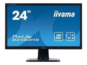 """24"""" Iiyama LCD LED ProLite B2483HSU-B1DP 1920x1080 FHD,1ms,DVI,DP,repro,pivot,černá"""