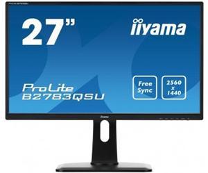 """27"""" Iiyama LCD LED ProLite B2783QSU-B1 2560x1440 WQHD,1ms,VGA,DVI,HDMI,USB,repro,pivot,černá"""
