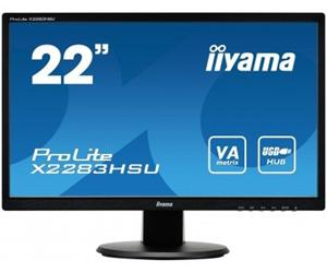 "21.5"" Iiyama LCD LED X2283HSU-B1DP 1920x1080 FHD,5ms,VGA,DVI,DP,USB Hub,repro,černá"