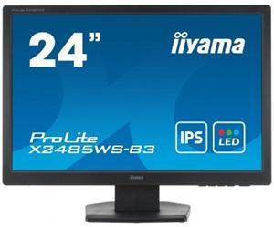 """24"""" Iiyama LCD LED IPS ProLite X2485WS-B3 1920x1200 FHD,4ms,VGA,DVI,repro,černá"""