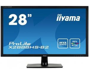 """28"""" Iiyama LCD LED ProLite X2888HS-B2 1920x1080 FHD,5ms,VGA,DVI,HDMI,DP,repro,černá"""