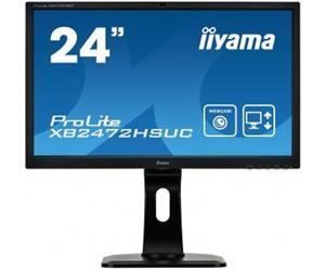 """24"""" Iiyama LCD LED VA ProLite XB2472HSUC-B1 1920x1080 FHD,8ms,VGA,DVI,DP,USB Hub,pivot,repro,kamera,černá"""