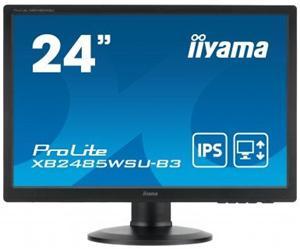 """24"""" Iiyama LCD LED IPA ProLite XB2485WSU-B3 1920x1200 FHD,4ms,VGA,DVI,DP,USB Hub,pivot,repro,černá"""