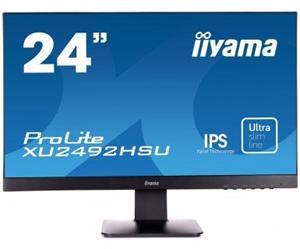 """24"""" Iiyama LCD LED IPS ProLite XU2492HSU-B1 1920x1080 FHD,5ms,VGA,HDMI,DP,USB,repro,černá"""