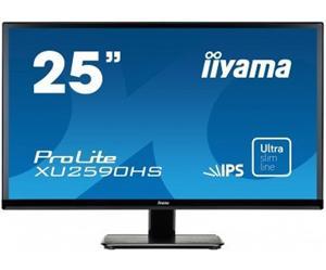 """25"""" Iiyama LCD LED IPS ProLite XU2590HS-B1 1920x1080 FHD,5ms,VGA,DVI,HDMI,repro,černá"""