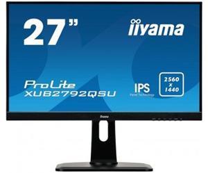 """27"""" Iiyama LCD LED IPS ProLite XUB2792QSU-B1 2560x1440 WQHD,5ms,DVI,HDMI,DP,USB,repro,pivot,černá"""