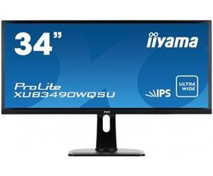 """34"""" Iiyama LCD LED AH-IPS ProLite XUB3490WQSU-B1 3440x1440 UWQHD,5ms,3xHDMI,DP,USB,repro,pivot,černá"""
