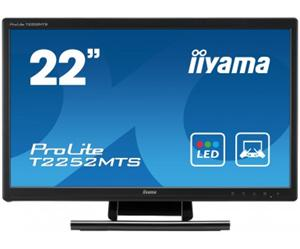 "21.5"" Iiyama LED IPS ProLite T2252MSC 1920x1080 FHD,Multitouch,7ms,VGA,HDMI,DP,repro,černá"
