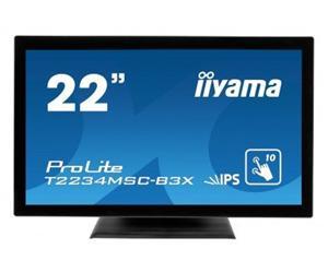 """21.5"""" Iiyama LCD LED IPS ProLite T2234MSC-B3X 1920x1080 FHD,Multitouch,5ms,VGA,DVI,repro,černá"""