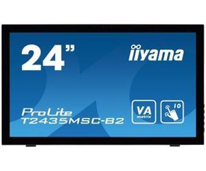 """24"""" Iiyama LCD LED ProLite T2435MSC-B2 1920x1020 FHD,Multitouch,6ms,DVI,HDM,DP,USB,repro,černá"""