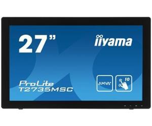 """27"""" Iiyama LCD LED ProLite T2735MSC-B2 1920x1020 FHD,Multitouch,5ms,VGA,DVI,HDM,USB,repro,černá"""