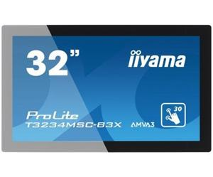 """32"""" Iiyama LCD LED ProLite T3234MSC-B3X 1920x1020 FHD,Multitouch,8ms,VGA,DVI,repro,černá"""