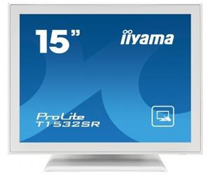 """15"""" Iiyama LCD LED ProLite T1532SR-W1 1280x1024,touch,5ms,VGA,DVI,USB,RS232,repro,bílá"""