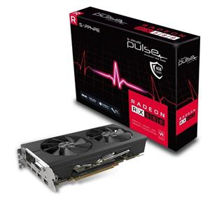 SAPPHIRE PULSE RADEON RX 580 OC / 4GB GDDR5 / PCI-E / 2x HDMI / DVI-D / 2x DP / active