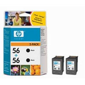 HP inkoustová cartridge černá C9502AE (2-pack C6656A, č. 56)