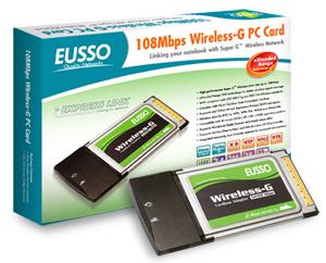 EUSSO UGL2454-01XR, Wireless 32bit PCMCIA Adapter,54/108Mbps