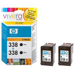 HP inkoustová cartridge černá CB331EE (2-pack C8765EE, č. 338)