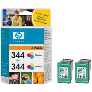 HP inkoustová cartridge barevná C9505EE (2-pack C9363EE, č. 344)