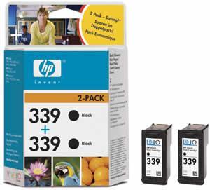 HP inkoustová cartridge černá C9504EE (2-pack C8767EE, č. 339)