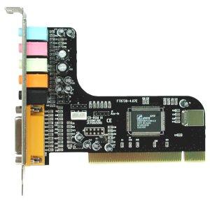 Zvuková karta CM8738, 6-channel, 3D, PCI