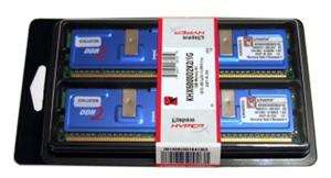 4GB (2x2GB Kit) DDR2/800 DIMM PC2 6400 Kingston Hyper X CL5