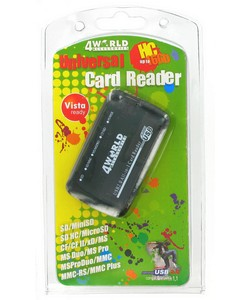 USB 2.0 Adaptor Flash Card Reader/Writer 24 in 1, SDHC, Ext.
