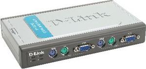 D-LINK 4-Port KVM přepínač, PS/2