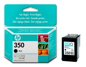 HP inkoustová cartridge černá CB335EE, č. 350