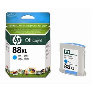 HP inkoustová cartridge Cyan C9391AE, č. 88XL