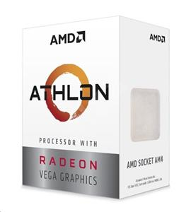 AMD Athlon 240GE-3,5GHz Raven Ridge (2core,5MB L2,socket AM4,35W,14nm) BOX
