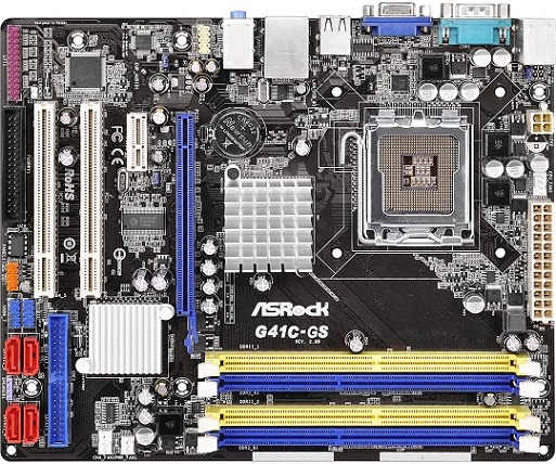 MB ASRock G41C-GS R2 0 s775/G41,VGA,GBe,PCIe  x16,2xPCI,ATA100,4xSATAII,2xDDR2+2xDD3,mATX