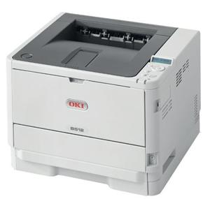 OKI B512dn A4, LED, 45 ppm, 1200x1200 dpi, PCL/PS, 512MB, 3GB eMMC, USB, LAN, Duplex