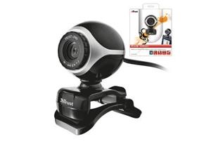 Webkamera TRUST Exis Webcam - Black/Silver, USB 2.0